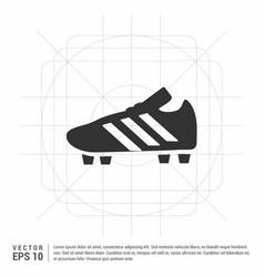 Football boot icon vector