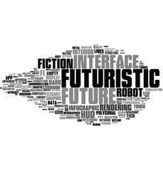Futuristic word cloud concept vector