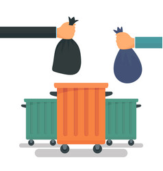 garbage container concept background flat style vector image