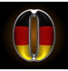 Germany metal figure 0 vector