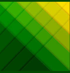 Green and yellow poster with line vector