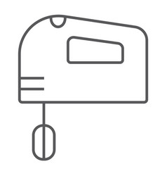 hand mixer thin line icon electric and kitchen vector image