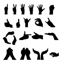 Hand signal on white vector