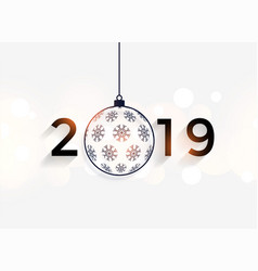 Happy new year 2019 decorative background vector