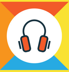 Headphone colorful outline symbol premium quality vector