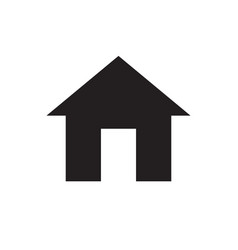 Home - black icon on white background vector