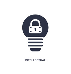 Intellectual property icon on white background vector