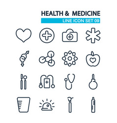 line healthcare icons collection vector image