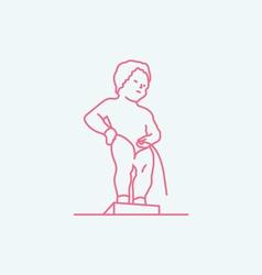 Manneken pis brussels vector
