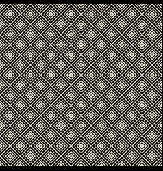 monochrome rhombus geometric seamless pattern vector image
