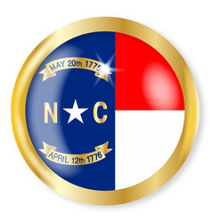 north carolina flag button vector image
