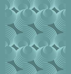 Nostalgy green spiral patterns on dark green vector