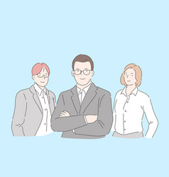 office workers team concept vector image