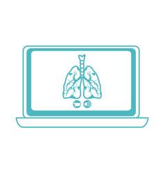 online doctor laptop respiratory disease vector image