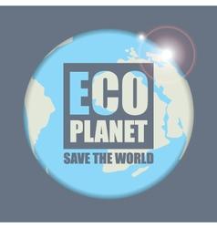 Planet eco vector