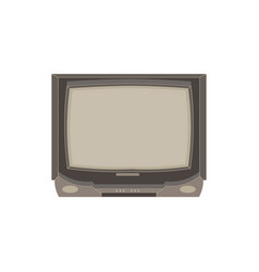 retro tv flat icon isolated vintage television vector image
