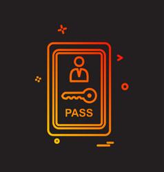 room key icon design vector image