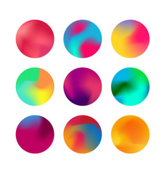 round gradient set rounded holographic gradient vector image