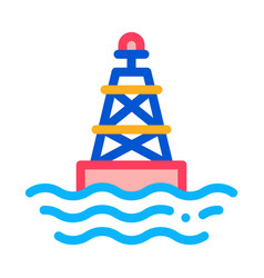sea light buoy icon outline vector image