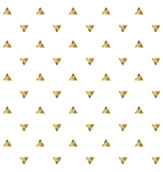 Seamless pattern with golden triangles vector