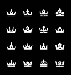 Set icons of crown vector