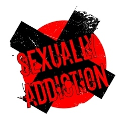 Sexually Addiction rubber stamp vector