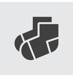 Sock icon vector image