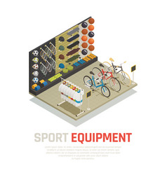Sport equipment isometric composition vector