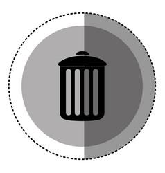 sticker monochrome circular emblem with trash vector image