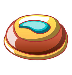 sweet creme biscuit icon cartoon style vector image