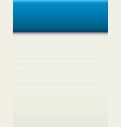 Template for notebook sheet vector