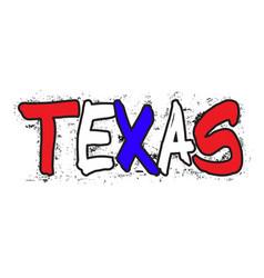 Texas graffiti vector