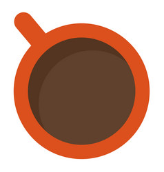 top view coffee cup icon flat style vector image