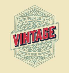 vintage frame for logo label design vector image