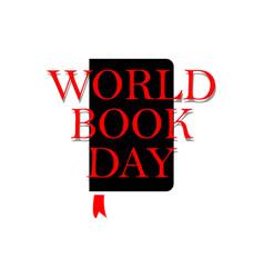 World book day template design vector