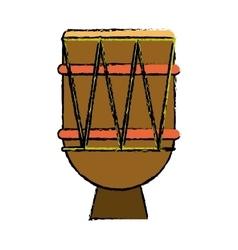 brasilian drum percussion bongo sketch vector image