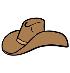 cowboy hat cartoon vector image