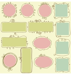 cute frames vector image vector image