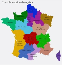 New french regions vector