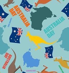 Australia day seamless pattern festive backdrop vector