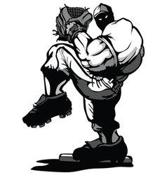 baseball player pitcher cartoon vector image vector image