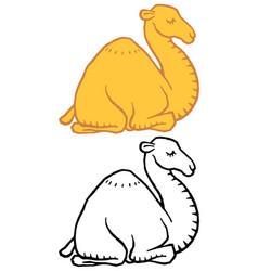 Cute cartoon camel dromedary vector