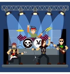 Music band on stage entertainment show vector