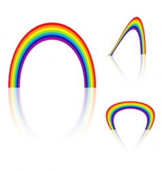 rainbow angle vector image