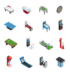 table games game machine icon set vector image