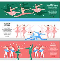 ballet flat banners set vector image