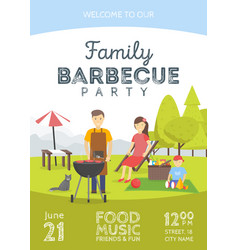 barbeue party announcement vector image