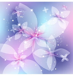 festive floral background abstract vector image vector image