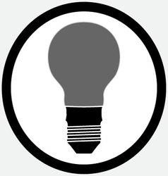 Idea lamp bulb icon black white vector image
