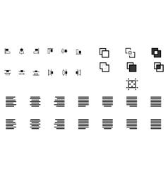 Set of align shapes vector image